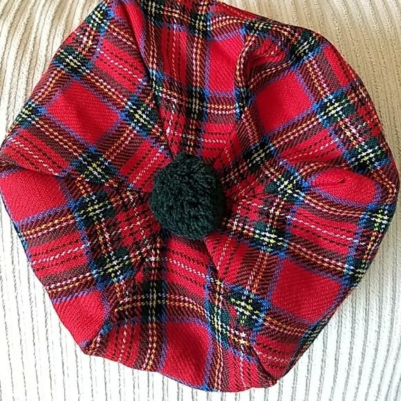 34cb7fd1edad1 James Pringle Weavers Accessories | Red Plaid Scottish Beret | Poshmark